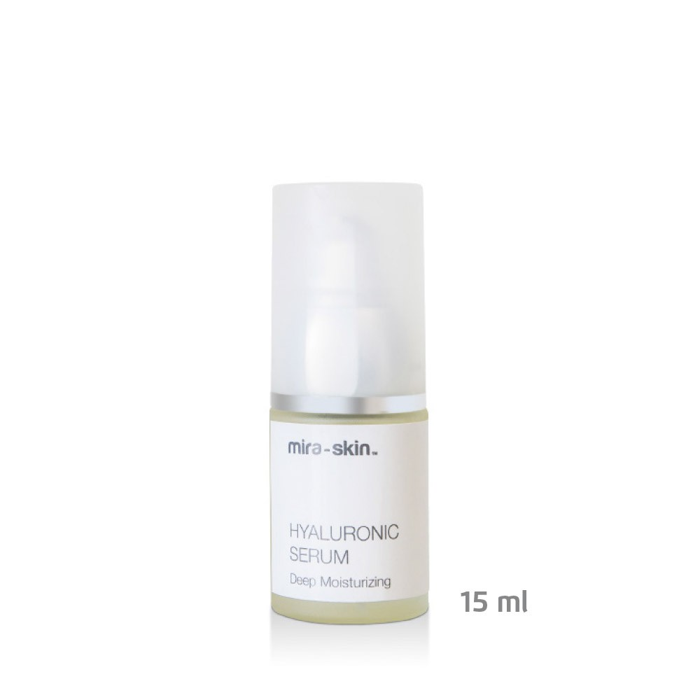 The Mira-Skin Hyaluronic Serum 15 ml bottle