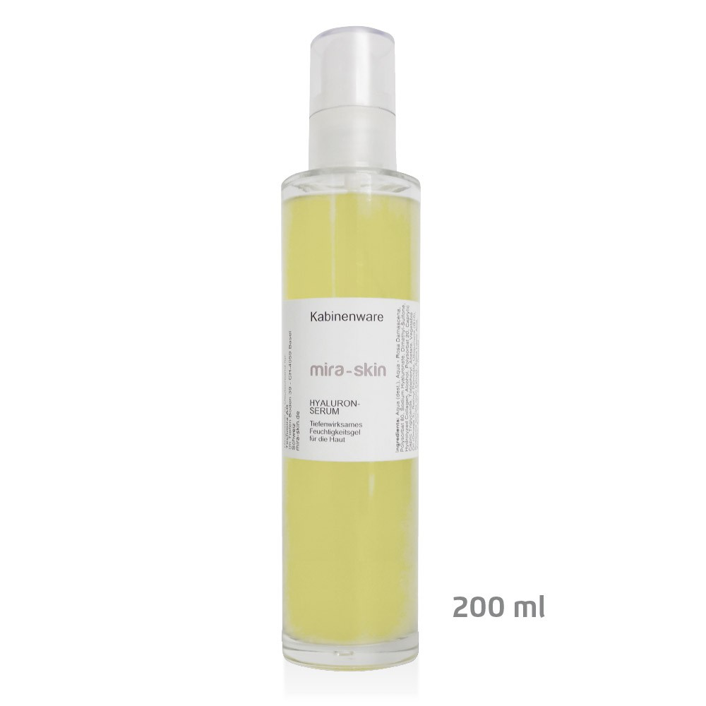 The Mira-Skin Hyaluronic Serum 200 ml bottle